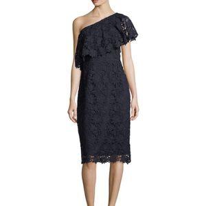 Nanette Lepore One Shoulder Lace Sheath Dress